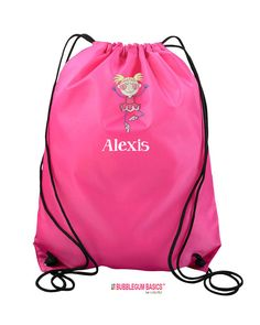9d207f7dafa2 Custom Embroidered Monogrammed BALLET DANCE Tap Jazz Drawstring Backpack Bag  Tote Childrens Kids Girls Teen School Camp Personalized