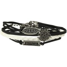 Supernatural Cord Bracelet 4 Pack | Hot Topic ($10) ❤ liked on Polyvore featuring jewelry, bracelets, supernatural, accessories, rope bracelet, bracelet jewelry, bracelet bangle e cord bracelet