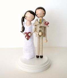 wedding cake topper by lace&rubbish; at lacerubbish.etsy.com