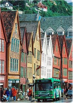 Bergen, Norway I swear the back allies in this town inspired Diagon Alley in Harry Potter, loved this place