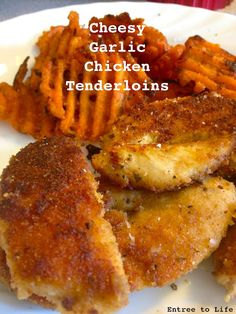 Entree To Life: Cheesy Garlic Chicken Tenderloins - very easy and adaptable!