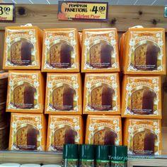 Trader Joe's Pumpkin Panettone 16 ounce package $4.99