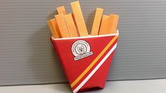 Origami French Fries - Print Your Own