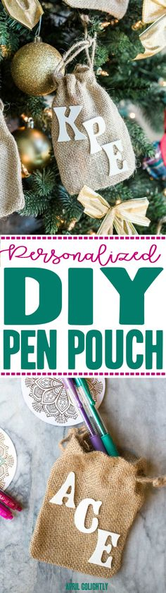 Personalized Pen Pouch DIY - for Pilot G2 Gel Ink Pens in colors so that you can color Adult coloring books for the holiday - gifts to open on Christmas Eve DoYouG2  AD