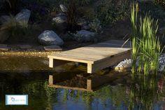 Ponton de la piscine naturelle | Aquaverde : Piscine naturelle – bassin de baignade