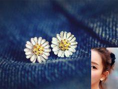 NEU-Damen-925-Sterling-Silber-Ohrstecker-Ohrringe-Ohrschmuck-Sterne-Blume