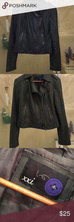 Dark gray leather jacket Great condition Jackets & Coats