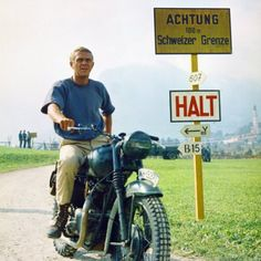 "Steve McQueen in the Epic 1963 film ""The Great Escape"""
