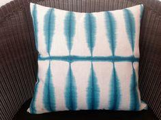 Blue Green Grid Cushion