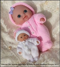 "All-in-One and Hat for chubby 5 & 8"" Berenguer dolls/8"" Lil Cutesie-"
