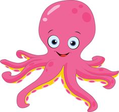 Royalty free clipart illustration of a happy pink octopus, on a white background. This royalty-free cartoon styled clip art picture is available as a fine art print and poster. Clipart Happy Pink Octopus - Royalty Free Vector Illustration by yayayoyo Art And Illustration, Octopus Illustration, Free Illustrations, Baby Octopus, Cute Octopus, Octopus Images, Octopus Drawing, Octopus Painting, Clip Art