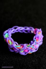 Rainbow Loom - go to http://loomlove.com to learn how to make it