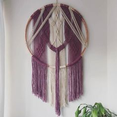 Hey, I found this really awesome Etsy listing at https://www.etsy.com/listing/265669855/macrame-copper-hoop-hanging
