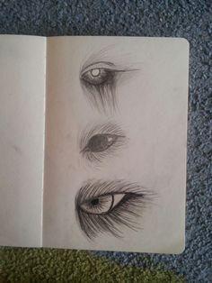 Dark eyes  Pencil & pen