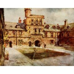 Hampshire 1913 Middle Gate Winchester College Canvas Art - Wilfrid Ball (24 x 36)