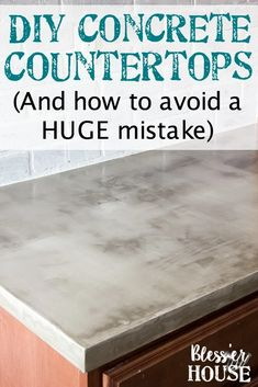 A thorough step-by-step tutorial with useful tips and advice on what not to do when installing DIY feather finish concrete countertops. Diy Concrete Countertops, Outdoor Kitchen Countertops, Concrete Floors, Laminate Flooring, Concrete Lamp, Cheap Countertops, Tiled Floors, Kitchen Cabinets, Plywood Floors