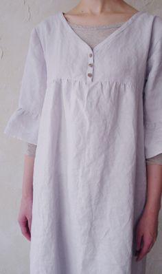 V-neck tunic dress Classique Blueberry