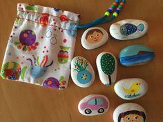 Piedras, pintadas a mano,cuantacuantos. de cincolobitos en Etsy