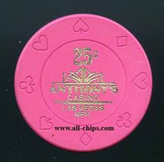 #LasVegasCasinoChip of the Day is a 25c Anthony's Casino 1st issue. #CasinoChip #LasVegas https://www.all-chips.com/ChipDetail.php?ChipID=18421