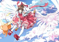 Cardcaptor Sakura | CLAMP | Madhouse / Kinomoto Sakura and Keroberos (Kero-chan) / 「Catch You Catch Me !!」/「よねこ」のイラスト [pixiv]
