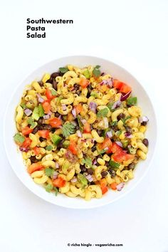 Southwestern Pasta Salad with Black Bean Dressing