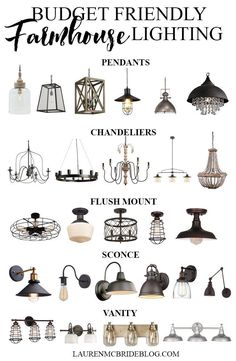 An extensive list of budget friendly farmhouse lighting options, including pendants, chandeliers, . Modern Kitchen Lighting, Farmhouse Kitchen Lighting, Farmhouse Light Fixtures, Kitchen Island Lighting, Kitchen Lighting Fixtures, Kitchen Pendant Lighting, Kitchen Pendants, Farmhouse Sinks, Farmhouse Pendant Lighting