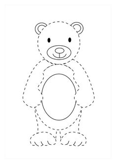 Imagine Many More Appealing Ways For A Young Child To Practise Their Pencil Control Skills Than Tracing The Dotty Lines On Our Lovely Bear Page