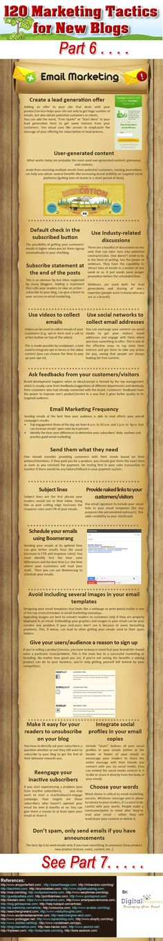 120 marketing tips for bloggers how to promote your blog #infographic www.socialmediabusinessacademy.com- part 6