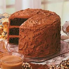 Sandy's Chocolate Cake ~ Winner at the Greatest Cocoa Cake Contest in Pennsylvania last January.  Took 1st place!
