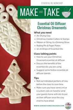 Oil Diffuser Christmas Tree Ornaments How to Make Essential Oil Diffuser Ornaments - Essential Oil Creative Essential Oils Christmas, Making Essential Oils, Essential Oil Blends, Diy Gifts Essential Oils, Diffusers For Essential Oils, Diy Christmas Ornaments, Holiday Crafts, Christmas Ideas, Beach Christmas