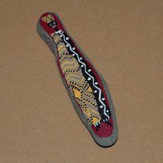 Galet peint à la main (9cm) avec motifs africains très colorés : Accessoires de maison par coco-desarts