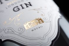 Newton House Gin handcrafted London Dry Gin designed by Breeze Creative Design Consultants