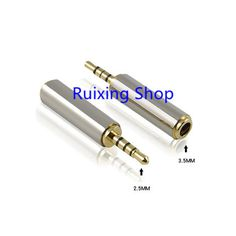 1 개 골드 2.5 미리메터 남성 3.5 미리메터 여성 스테레오 오디오 어댑터 플러그 컨버터 헤드폰 잭 무료 배송 도매