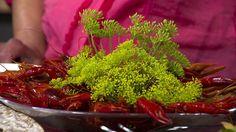 Kräftfest med goda tillbehör Seaweed Salad, Ethnic Recipes, Food, Meals, Yemek, Eten