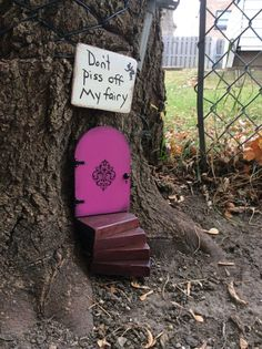 Fairy garden, 3 piece set, Fairy door, stairs and sign, garden decor, birthday gift for girls, housewarming gift, unique gift, gifts for mom