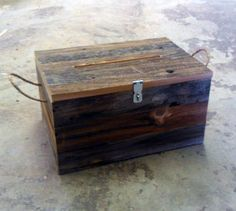 Barn Wood Card Box by LunarCanyon on Etsy, $55.20