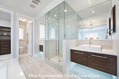 Construindo Minha Casa Clean: Banheiros para Casais!!! Veja Dicas para Planejar o Seu!