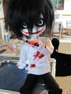 Jeff the killer doll!!!!! I need this!!!!