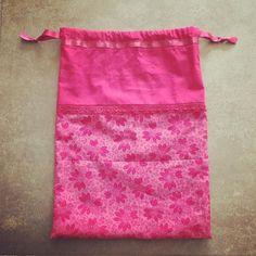 Début en #couture : mon pochon pour projet tricot chaussettes