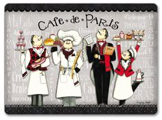 French Chefs Poster Print by Sydney Wright Chef Pictures, Kitchen Pictures, Chef Kitchen Decor, Kitchen Art, Die A, R Cafe, Foto Transfer, Le Chef, Decoupage Paper
