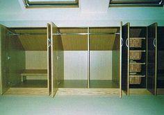 Built in Wall Beds in attic | Attic Wardrobe