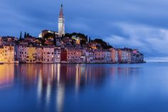 Rovinj - a historic port on the western coast of the Istrian Peninsula Best Places To Retire, Best Places To Travel, Cool Places To Visit, Rovinj Croatia, Most Romantic Places, Tourist Places, Croatia Travel, Summer Travel, Landscape Photos