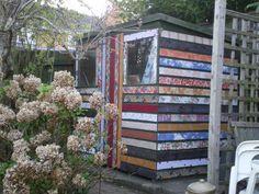 Elena's amazing fabric covered sheds!