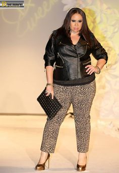 An Ashley Stewart fall look that was shown on Saturday, June 22nd, at Full Figured Fashion Week. Photograph by photographer Rick D Jones.