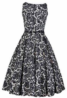 Glamorous Black Lace Hepburn Dress : Lady Vintage I want this dress soooo bad!