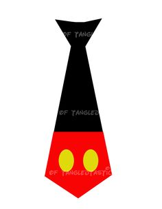 Mickey Tie shorts Dot DIY Printable Iron Transfer Disney Boys Shirt Onesie. $5.00, via Etsy.