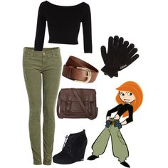 """Kim Possible Halloween Costume"" by anissaloves1d on Polyvore"