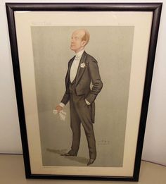 Vanity Fair original 1892 Spy Lord Elcho Lithograph Derby Day Vincent Brooks