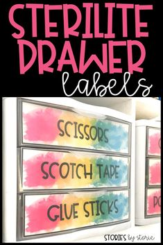 Sterilite Drawers have been a key organizational tool in my classroom for years and they work well in my home office, too! I love that I can keep all of the mess separated, contained, and still keep everything looking good just by adding labels to the fro
