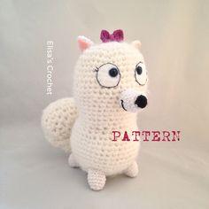 CROCHET PATTERN - GIDGET The secret life of pets movie Amigurumi doll - pdf only by Elisascrochet on Etsy https://www.etsy.com/listing/449284396/crochet-pattern-gidget-the-secret-life